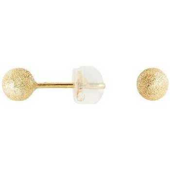 Montres & Bijoux Femme Boucles d'oreilles Cleor Boucles d'oreilles  en Or 375/1000 Jaune Blanc