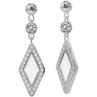 Montres & Bijoux Femme Boucles d'oreilles Fossil Boucles d'oreilles  Be Iconic nacre et acier Blanc