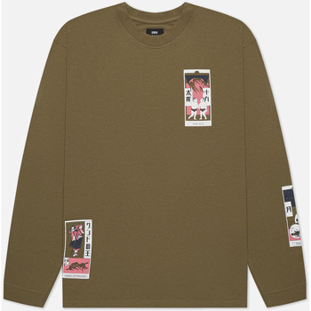 Vêtements Homme T-shirts & Polos Edwin T-shirt manches longues  Tarot Deck II vert olive