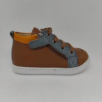 Chaussures Garçon Baskets mode Shoo Pom BOUBA BI ZIP SAN REMO Marron