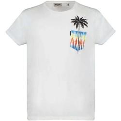 Vêtements Garçon T-shirts manches courtes Deeluxe T-Shirt PALMY White