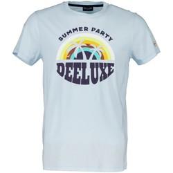 Vêtements Garçon T-shirts manches courtes Deeluxe T-Shirt PARTY Sky