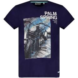 Vêtements Garçon T-shirts manches courtes Deeluxe T-Shirt MOTOPALM Navy