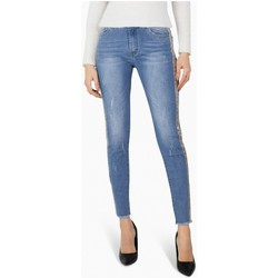 Vêtements Femme Jeans Kebello Jean slim sequin doré Taille : F Bleu S Bleu