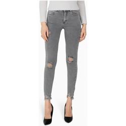 Vêtements Femme Jeans slim Kebello Jean slim destroy Taille : F Gris XS Gris