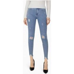 Vêtements Femme Jeans slim Kebello Jean slim destroy Taille : F Bleu XS Bleu