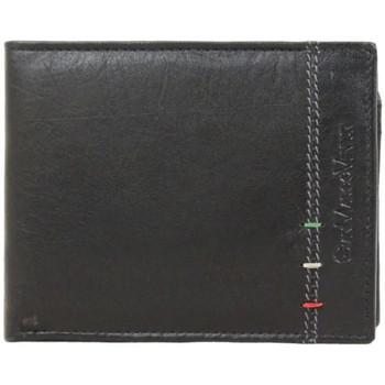 Sacs Homme Pochettes / Sacoches A Découvrir ! Portefeuille européen Gianmarco en cuir Noir mat Multicolor