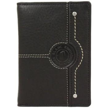 Sacs Homme Pochettes / Sacoches Patrick Blanc Mini portefeuille extra plat en cuir  CX Noir Multicolor