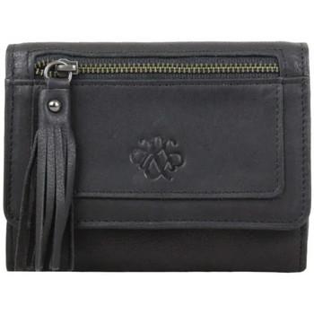 Sacs Femme Portefeuilles Arthur & Aston Porte monnaie M  Cuir noir mat effet vieilli Multicolor