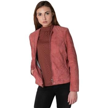 Vêtements Femme Vestes en cuir / synthétiques Daytona ELISA CURVE GOAT SUEDE MINERAL RED Rose