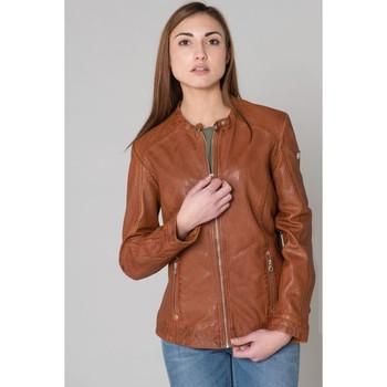 Vêtements Femme Vestes en cuir / synthétiques Gipsy GGJAYLA CF LAMAXV COGNAC Cognac