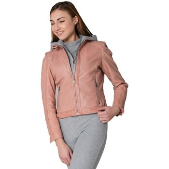 Vêtements Femme Vestes en cuir / synthétiques Gipsy GGABY LAMAS ROSE Rose