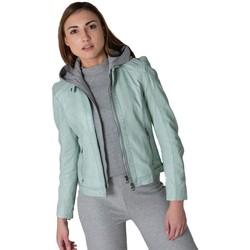 Vêtements Femme Vestes en cuir / synthétiques Gipsy GGABBY LAMAS PASTEL TURQUOISE Turquoise