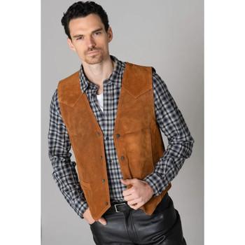 Vêtements Homme Vestes en cuir / synthétiques Last Rebels NORTON V SU CO Cognac