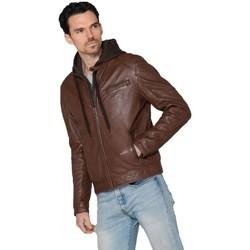 Vêtements Homme Vestes en cuir / synthétiques Serge Pariente 61531 HODD SHEEP VEG BRANDY Marron
