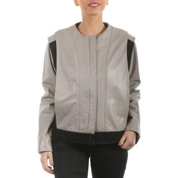 Vêtements Vestes en cuir / synthétiques Arturo Carole Gris Gris