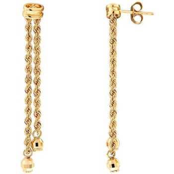 Montres & Bijoux Femme Boucles d'oreilles Cleor Boucles d'oreilles  en Or 750/1000 Jaune Jaune