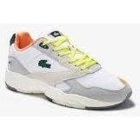 Chaussures Baskets basses Lacoste STORM BLANC ORANGE JAUNE