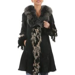 Vêtements Vestes en cuir / synthétiques Arturo Frangy Noir Noir