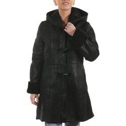 Vêtements Vestes en cuir / synthétiques Arturo Elsa Duffle Noir Noir