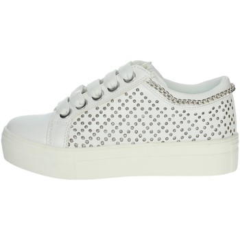 Chaussures Fille Baskets basses Asso AG-10352 Blanc/Argent