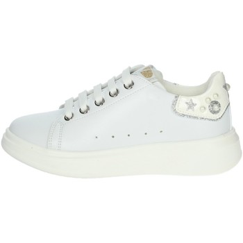 Chaussures Fille Baskets basses Asso AG-10301 Blanc/Argent