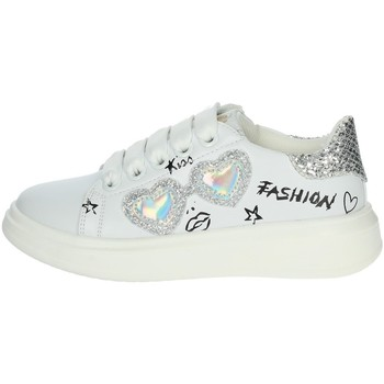 Chaussures Fille Baskets basses Asso AG-10300 Blanc/Argent