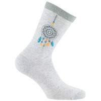 Accessoires Femme Chaussettes Kindy Mi-chaussettes Attrape rêves Made in France Gris