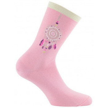 Accessoires Femme Chaussettes Kindy Mi-chaussettes Attrape rêves Made in France Rose