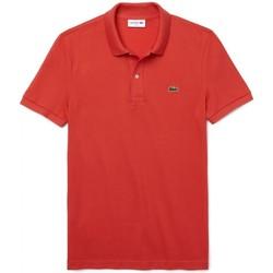 Vêtements Homme Polos manches courtes Lacoste Polo Slim Fit Rosso Rouge