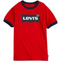 Vêtements Garçon T-shirts manches courtes Levi's Batwing Ringer Super Rouge