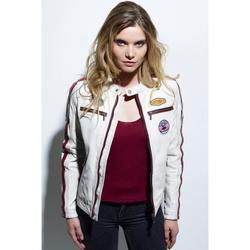 Vêtements Femme Vestes en cuir / synthétiques Daytona OLIVERA SHEEP ATLAS WHITE Blanc