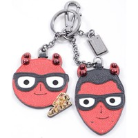 Accessoires textile Homme Porte-clés D&G Men Leather Key-Chain Red