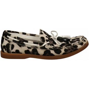 Chaussures Femme Mocassins Hundred 100  leo-bianco-nero