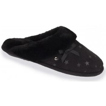 Chaussures Femme Chaussons Isotoner chaussons femme étoiles noir 97168 Noir