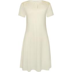 Vêtements Femme Pyjamas / Chemises de nuit Lisca Chemise nuit manches courtes Harvest Ivoire
