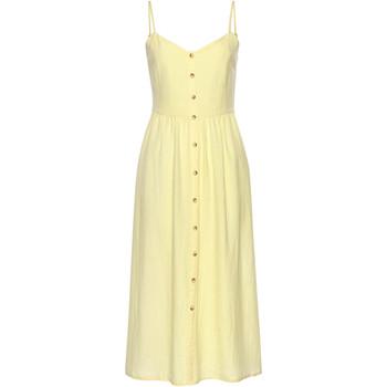 Vêtements Femme Robes courtes Lascana Robe estivale longue Leinen jaune Jaune