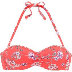 Vêtements Femme Maillots de bain séparables Lascana Haut maillot de bain bandeau armaturé Ditsy Orange