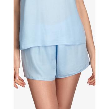 Vêtements Femme Pyjamas / Chemises de nuit Ajour Bas pyjama short Forget-Me-Not bleu ciel Bleu Ciel