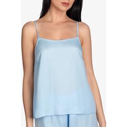 Vêtements Femme Pyjamas / Chemises de nuit Ajour Haut pyjama caraco Forget-Me-Not bleu ciel Bleu Ciel