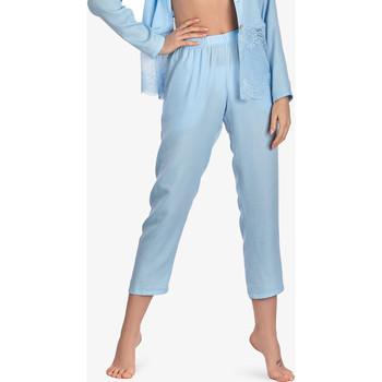 Vêtements Femme Pyjamas / Chemises de nuit Ajour Bas pyjama pantalon 7-8 Forget-Me-Not bleu ciel Bleu Ciel