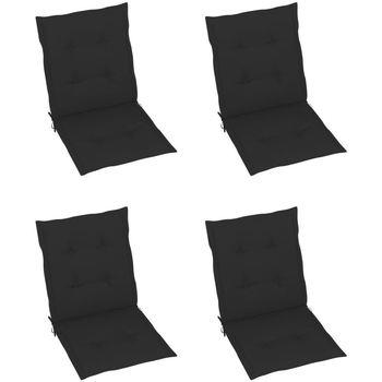 Maison & Déco Coussins Vidaxl Coussin de chaise 100 x 50 x 3 cm Noir