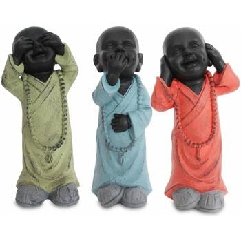 Maison & Déco Statuettes et figurines Signes Grimalt Bouddha Ne Voit Pas Oye-Talk-Ensemble De 3U Multicolor
