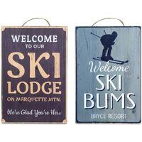 Maison & Déco Tableaux, toiles Signes Grimalt Plaque De Ski Ensemble De 2 Unités De Mur Multicolor