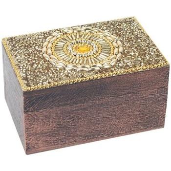 Maison & Déco Malles, coffres de rangements Signes Grimalt Boîte Rectangulaire Dorado