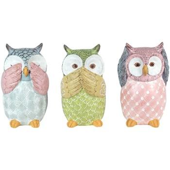 Maison & Déco Statuettes et figurines Signes Grimalt Owl Ensemble De 3 Unités Multicolor