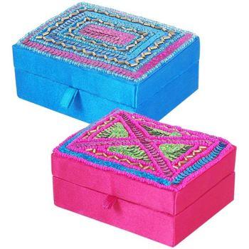 Maison & Déco Malles, coffres de rangements Signes Grimalt Boîte En Soie Avec Strass Et Ensemble 2U Multicolor