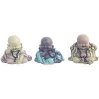 Maison & Déco Statuettes et figurines Signes Grimalt Ensemble Différent De Bouddha 3 3U Multicolor