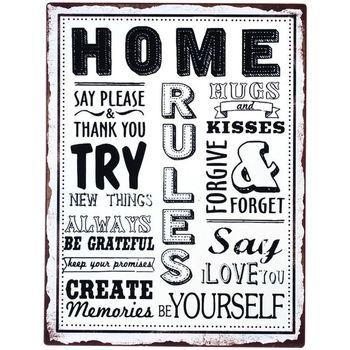 Maison & Déco Tableaux, toiles Signes Grimalt Home Plate Mur Multicolor