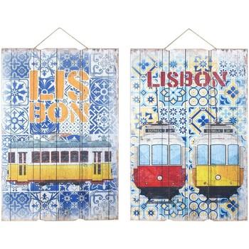 Maison & Déco Tableaux, toiles Signes Grimalt Mur Ornement Lisbonne 2 Ensemble Différent De 2U Multicolor